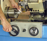 Dual Electronic Handwheel control for you CNC Lathe.  Natural control and feel for fast setup.