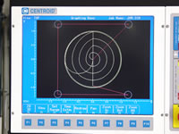 Part program grahics show you the part before and during machining.