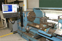 Graziano manual lathe has been converted to CNC