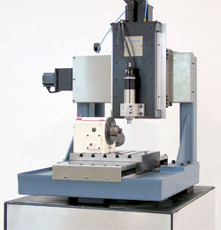 4 Axis bench top mill, rotary table equipped