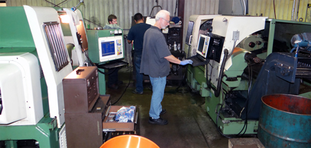 Mori Seiki Turning Centers with new CNC controls installed.
