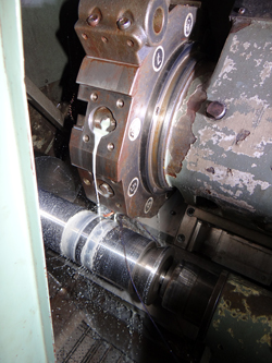 Mori Seiki SL-4 turning a part