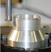 Machine threads not possible with a tap and a mill!  CENTROID's Threadmilling is a standard feature that will amaze you.